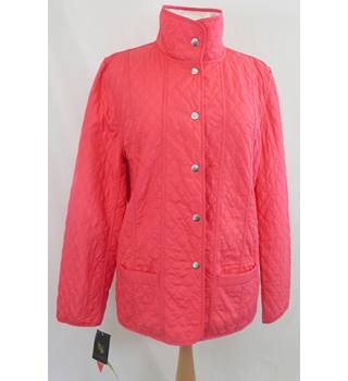 BNWT - Grenouille -Size 12 - Coral/White - Quilted Jacket