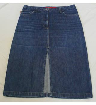 fcuk jeans - Size: 6 - Blue - A-line denim skirt