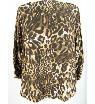 M&S Marks & Spencer - Size: 18 - Brown animal print top