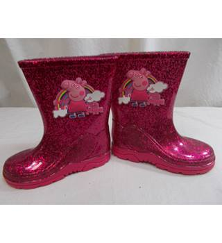 Shoezone Peppa Pig glitter wellingtons for kids size 7