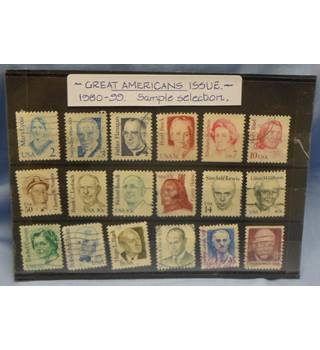 1980-1999. Great Americans selection. Mint and Used. 18 stamps
