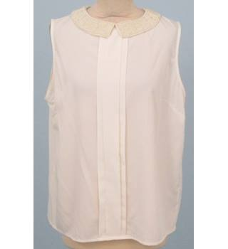 M&Co - Size: 16 - White Sleeves Top with a beaded collar