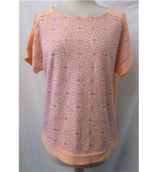 Per Una size: 10 peach and lilac embroidered t-shirt