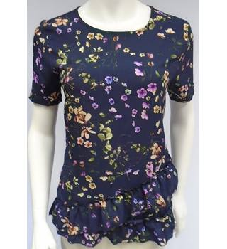 BNWT Warehouse - Size 8 - Blue with pink, yellow, and green floral print top