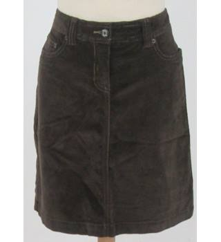 Boden - Size: 10 - Brown Cord Skirt