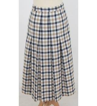GOR-RAY - Size: 14 - Cream / ivory - Check Skirt