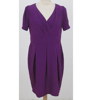 A/Wear: Size 14: Purple V-neck dress