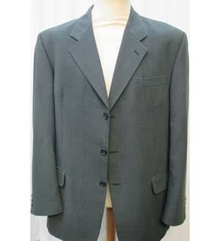 "Burton - Size: 44"" Chest - Green/grey houndstooth check - Jacket"