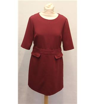 New Look - Size: 12 - Burgundy - Knee length dress