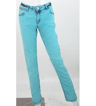 "Vintage Superdry Size 32"" waist Sky Blue - 'Powdered' Jeans"