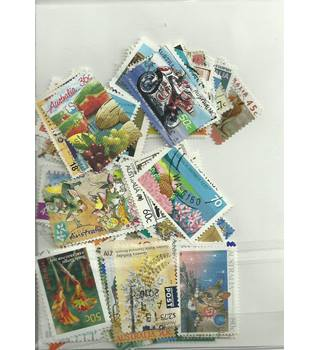 300 Australia stamps Multi-coloured