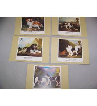 5 royal mail postcards - dogs