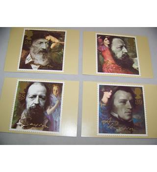 4 royal mail postcards - Tennyson
