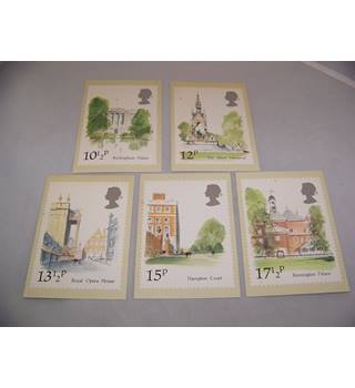 5 royal mail postcards  - London landmarks