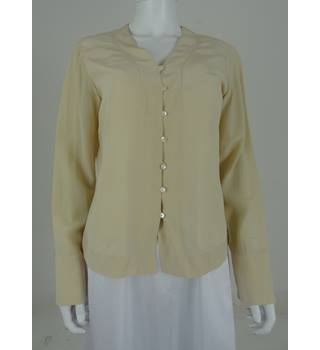 Vintage 1990's Laura Ashley Size: 12 Cream Button Down Blouse