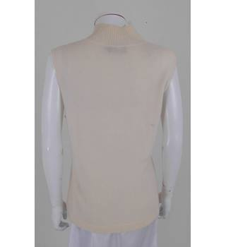 Pure Collection Size 16 Cream 100% Cashmere Sleeveless Jumper