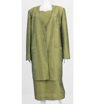 New Landmark Boutique Size 18 Olive Green Dress and Jacket 2 Piece Set