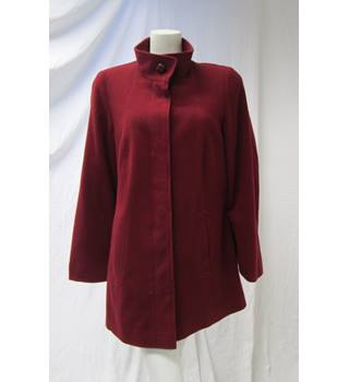 M&S Size 16 Red Wool Coat M&S Marks & Spencer - Size: 16 - Red