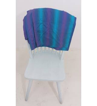 Bold Purple & Blue Ombre Striped Pair Of Curtains