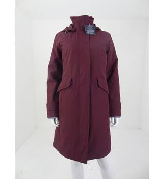 Land's end Size S Aubergine Quilted Lining Coat