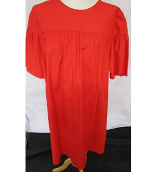 Marks and Spencer M  & S Collection - Pure Cotton - Flared Sleeve - Red - Smock Dress Size 16 - BNWTS