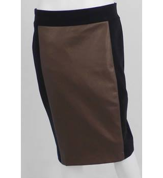 NWOT M&S Size 12 Black and Bronze Panelled Pencil Skirt