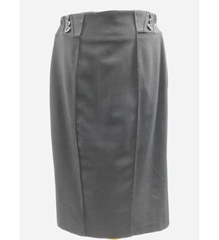 Marks & Spencer - Size: 8 - Grey - Knee length skirt