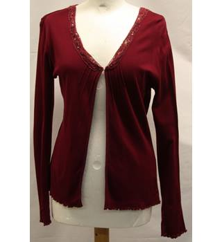 Hobbs - Size: M - Red - Cardigan