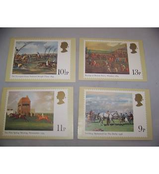 royal mail postcards - horse racing