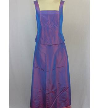 Laura Ashley. size 8/10 purple two-piece evening dress