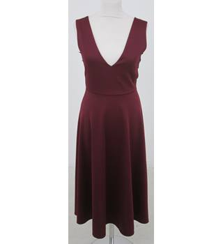 BNWT Studio One Burgundy dress with lace inserts