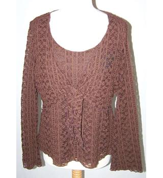 Berketex - Size: 18 - Brown - Long sleeved blouse