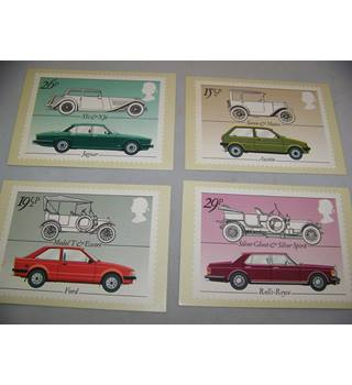 royal mail postcards - british motor cars