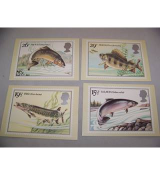 royal mail postcard - british river fishes