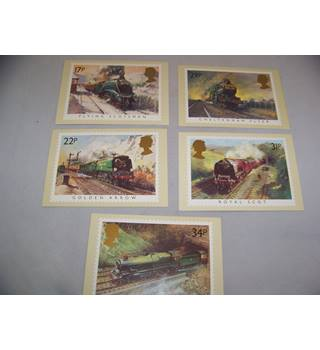 royal mail postcards - famous trains