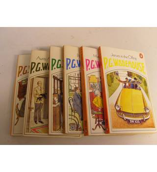 Six P.G. Wodehouse novels, Penguins incl Much Obliged Jeeves, Heavy Weather,  Psmith in the City, Jeeves in the Offing,etc