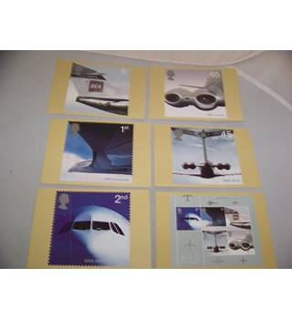 royal mail postcards - airliners