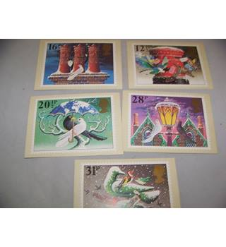 royal mail postcards - christmas 1983