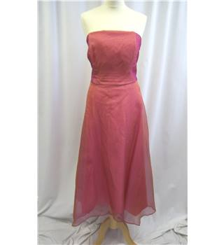 Monsoon Size: 18 Peach/Pink Silk Strapless dress