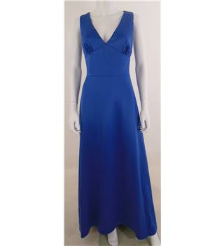 Dessy Collection size: 10 Royal Blue V Neck Evening Dress