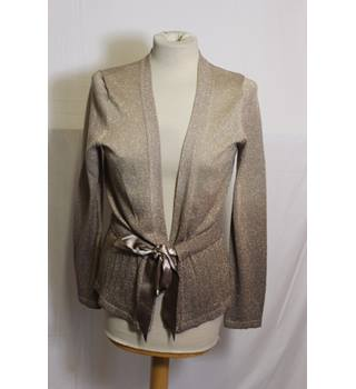 Next sparkly gold ribbon tie cardigan size 14 Next - Size: 14 - Metallics - Cardigan
