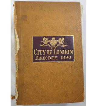 The City of London Directory, 1896