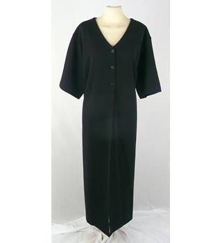 Mariella Gelli  size 24 / 26  black long 'V' neck over dress / coat