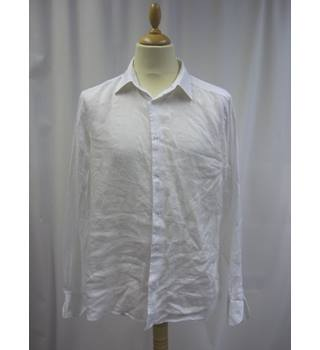 John Lewis - Size: L - White - Long sleeved Shirt