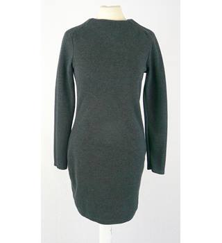 Zara  size S approx 6 / 8 UK grey marl short dress - long sleeves