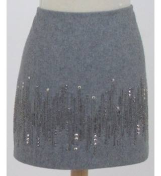Next size 12 grey mini skirt