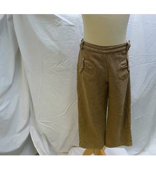 Trendy Girl's Kent & Carey wide legged herringbone trousers Kent & Carey - Size: 6 - 7 Years - Brown - Trousers