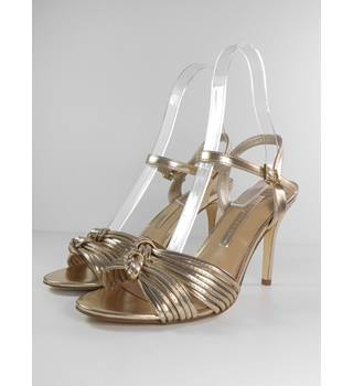 NWOT M&S Collection Size: 3.5 Gold Strappy Heels