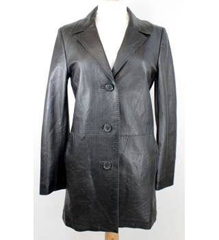 House of Fraser - Size: S - Black - Leather coat