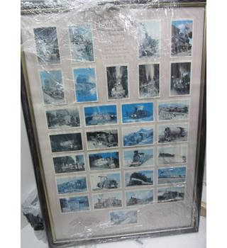 Castella picture Cards in a frame Width 46cm length 65cm pantella cigar cards Collectible item